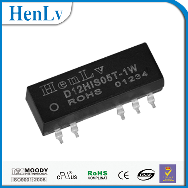 3000-6000v high islotation regulated dc/dc power supply D24HIS05T-1W conversor digital tv