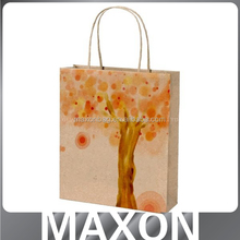 High quality new design low price printed paper shopping bag for clothes