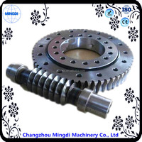Copper Small Worm Gear Shaft / Slewing Drive for Solar Tracker