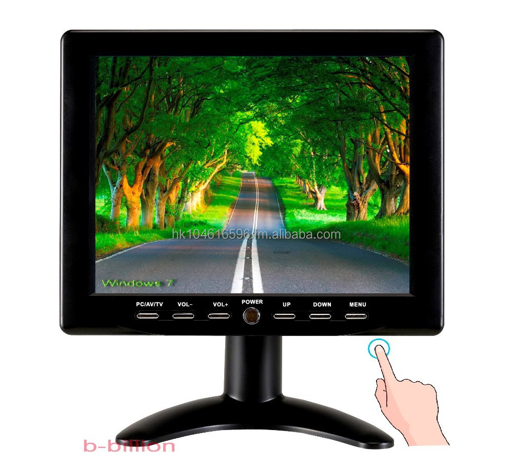 "8"" Car Reverse Color LED Display VGA RCA AV POS Touch Screen TFT LCD Monitor"