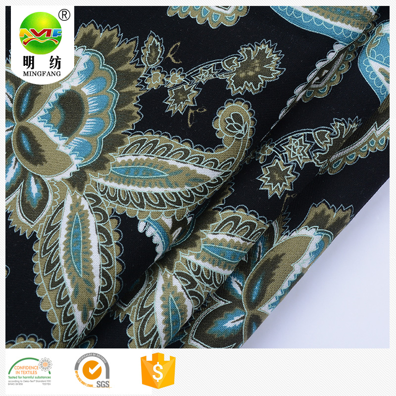 wholesale textiles leather products digital printed <strong>100</strong>% woven rayon fabric
