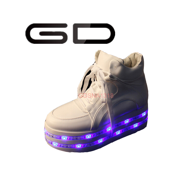GD new trend design colorful shining lamps led sneakers flash lights shoes