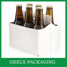 6 Pack Wine Or Beer Carrier White Brown