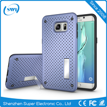 Mesh Combo Hybrid Case for Samsung Galaxy S6 edge Plus , 2 in 1 Mobile Back Cover TPU Defender Case For Samsung S6 edge Plus
