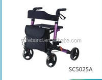 4 Wheels Walker / Rollator / Walking Aids Rollator Shopping Cart