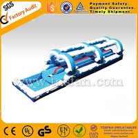 Double lane inflatable slip n slide inflatable water slide pool A4046