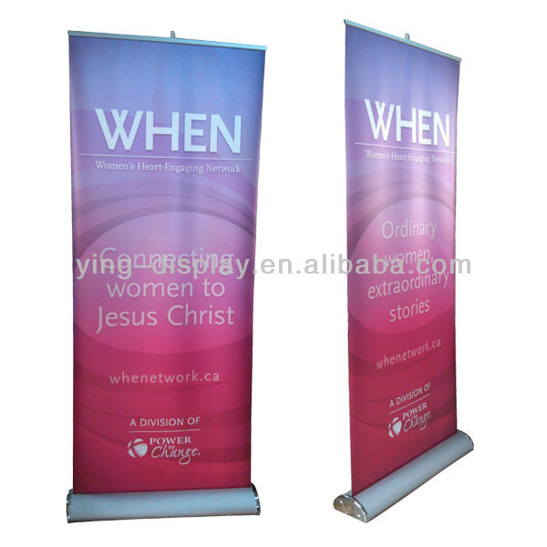 high quanlity Luxury Roll Up Banner Wide Base Rollup display stand