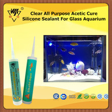 Clear All Purpose Acetic Cure Silicone Sealant For Glass Aquarium