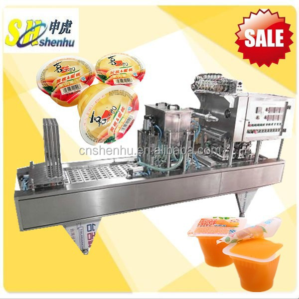 Shanghai Roll Film Jelly Cup Filling And Sealing Machine With Date Printing