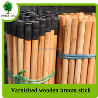 Smooth surface Varnished wood broom stick mops handle China factory wholesales with cheap price