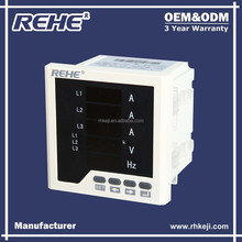 3 phase 5 Rows LED Display AC Amp & Volt & Hz Combined Digital Panel Meter (RH-3UIF33)