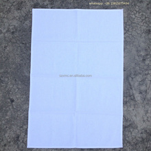 100% cotton plain dyed canvas 50x70 CM off white blank tea towel for screen printing