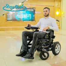 Good ground clearance folding hydraulic electric wheel chair for outdoor travel