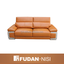 New model orange leather sectional sofa set Manila Philippines