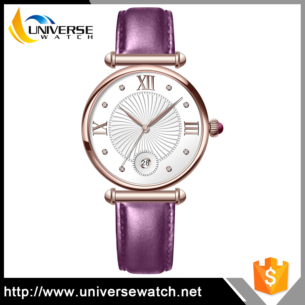 New Arrival Colorful Leather Strap Lady Watch Fashion Vogue Female Watch