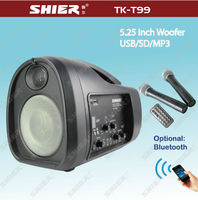 TK-T99-1 Plastic 5.25 inch full range mini cute home theater speaker with usb sd