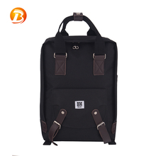 Cheap price black color durable 600D teenagers backpack new design school bag