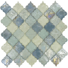 multicolor blue lantern glass mosaic tiles