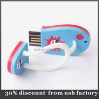 high quality 8GB sock shape pvc material usb flash drive