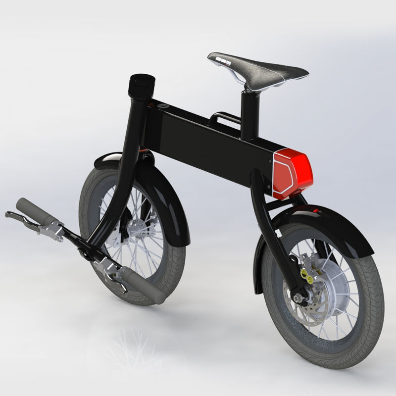 Foldable Electric Scooter Electronic Bicycle Best for City Commuting and Travel with Attractive