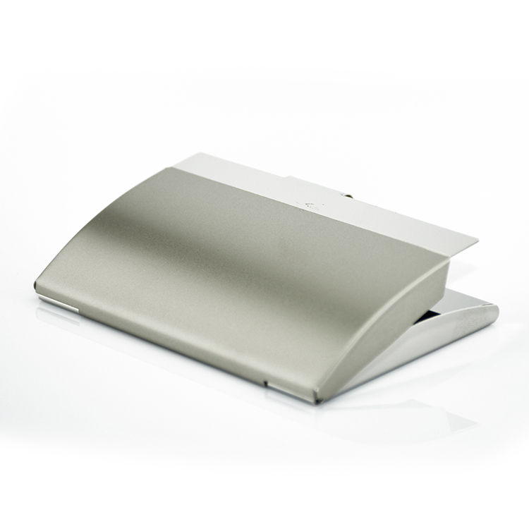 Newest style travel durable blocking bulk stainless steel metal business cardholders card holder