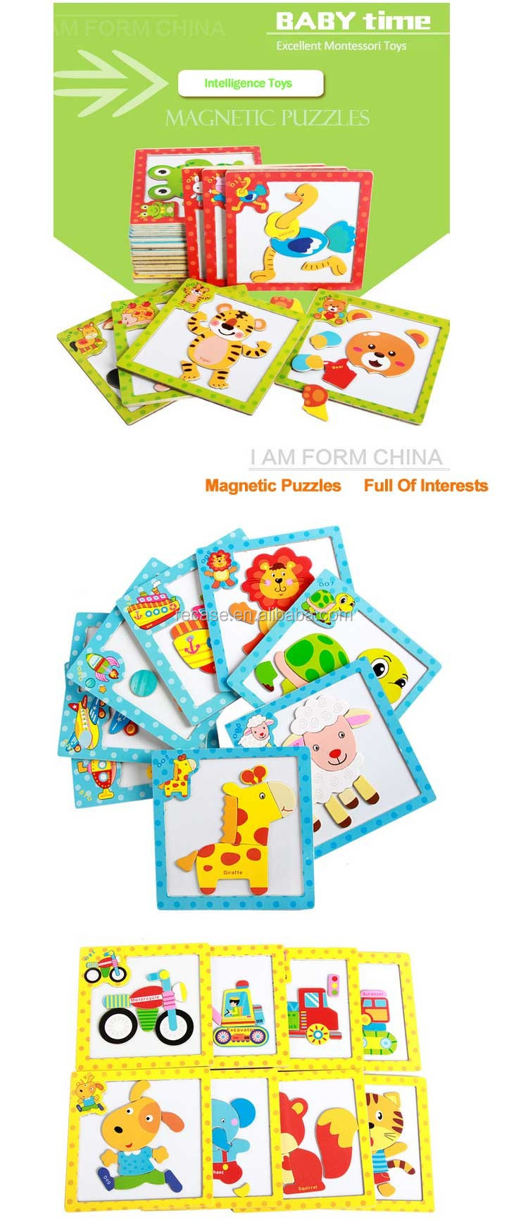 New Style Jigsaw Puzzle Colorful Cartoon Educational Board Game For Babies Child Motorcycle Toys