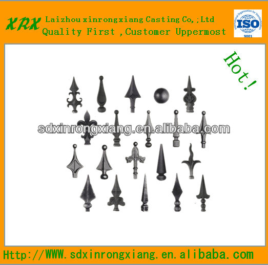 2013 Top-selling newest decorative cast iron fence finials