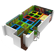 Let Jump Healthy Commercial Kids Indoor Trampoline Area with Sports Artificial Grass Flooring Mat