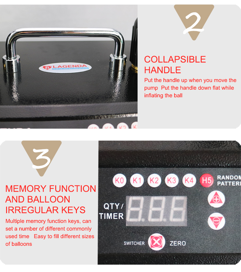 B322 Lagenda Fresh Air Timer and Counter Balloon Inflator