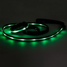 new item nice flashing led spring dog leash rope dog leash lock
