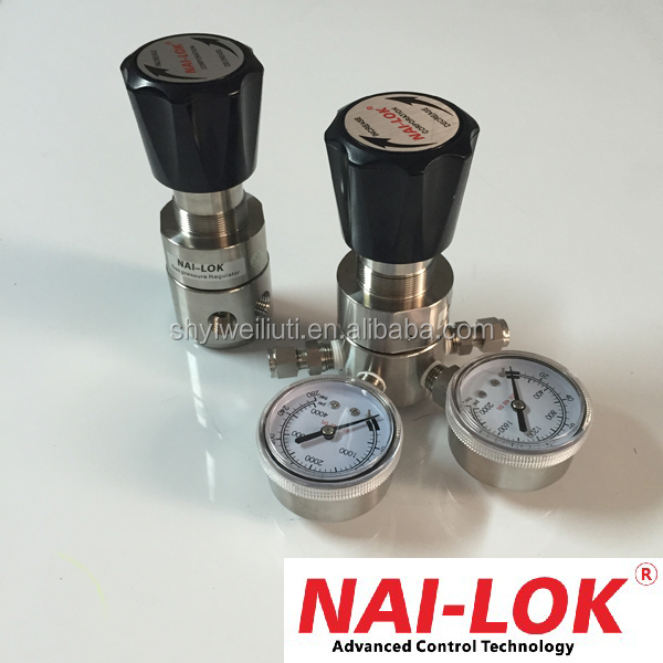Specialty gas high pressure regulator nitrogen