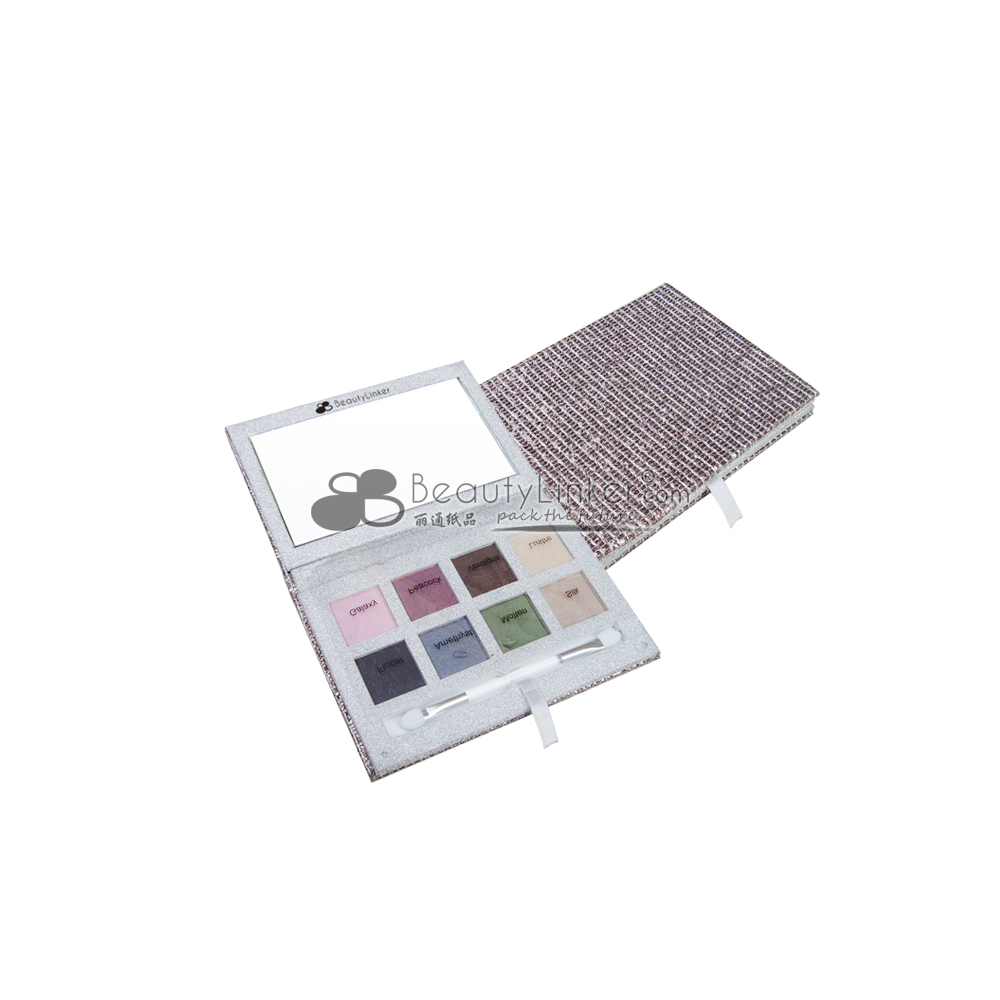 Portable eyeshadow and blush makeup mixing palette! Cardboar eyeshadow, blush, or lip gloss container, make your own brand