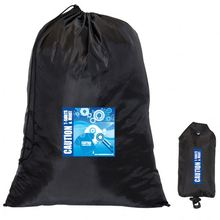 Customized 190T Nylon Foldable Nylon Shopper With Independent Drawstring Pouch