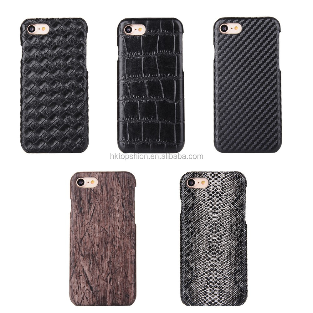Wholesale leather texture ultra thin cover case for iphone 7, for iphone case