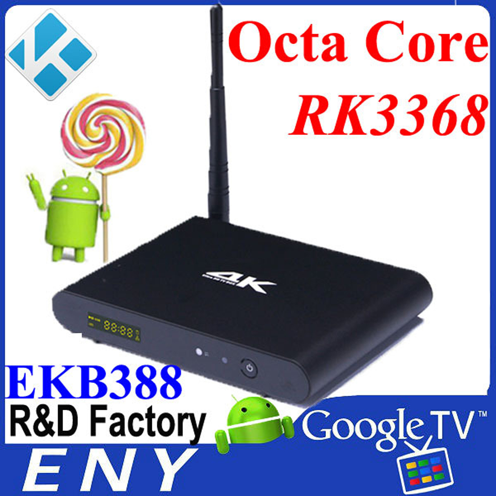 fta hd receiver 4K Android5.1 Ott Rk3368 Emmc I68 Android Tv Box Android5.1 Smart Tv Box