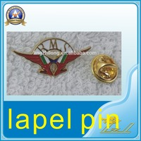 Custom zinc alloy gold wing childrens health fund lapel pin