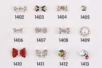 free shipping bow tie 3d diamond nail art decoration#1139