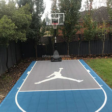 Modular indoor and outdoor used basketball sports flooring