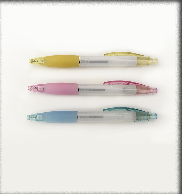 Colorful soft grip China ball pen Click action promotional pen and china school stationery