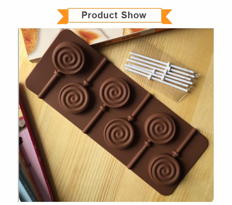 6 Cavity Silicone Chocolate Candy Mold