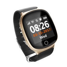 2019 new real time gps location two-way talk sos geofence heart rate monitor D100 <strong>smart</strong> <strong>watch</strong> for elderly