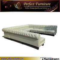 sectional leather Night club booth sofa PFS1507