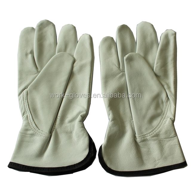 High quality goat grain leather driver work hand gloves
