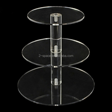 3 Tier Crystal Acrylic Round Cupcake Stand Clear Circle Acrylic Wedding Party Cake Display Stand