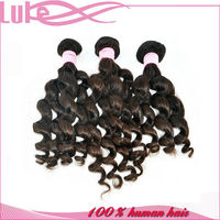 Peruvian Virgin Hair Human Hair Weft Natural Color Weave Human Hair
