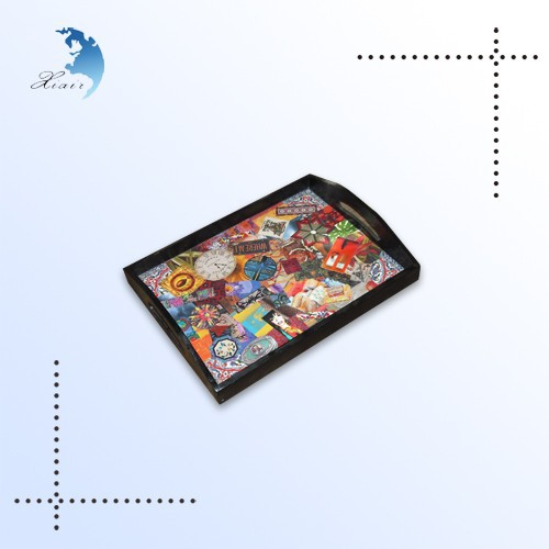 Custom handmade good quality mdf tray with food safe,wood servicing tray