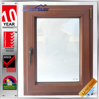 AS2047 aluminum composite wood tilt&turn double layer glass window