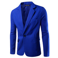 Manufacturer directly supply mens large size 7colors for choices single breasted suits for wholesale