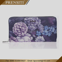 PRENSITI Custom custom embroidered lady Leather wallets