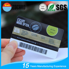 CR80 Printable PVC Barcode Membership Card